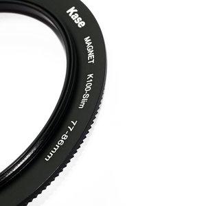 Kase K100 K8 magnetische adapterring 77-86 mm